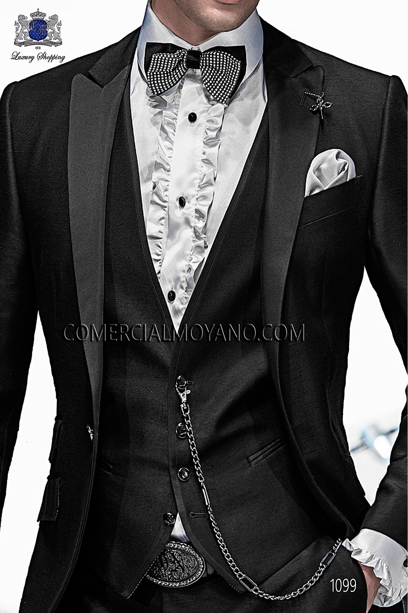 Italian emotion black men wedding suit, model: 1099 Ottavio Nuccio Gala Emotion Collection