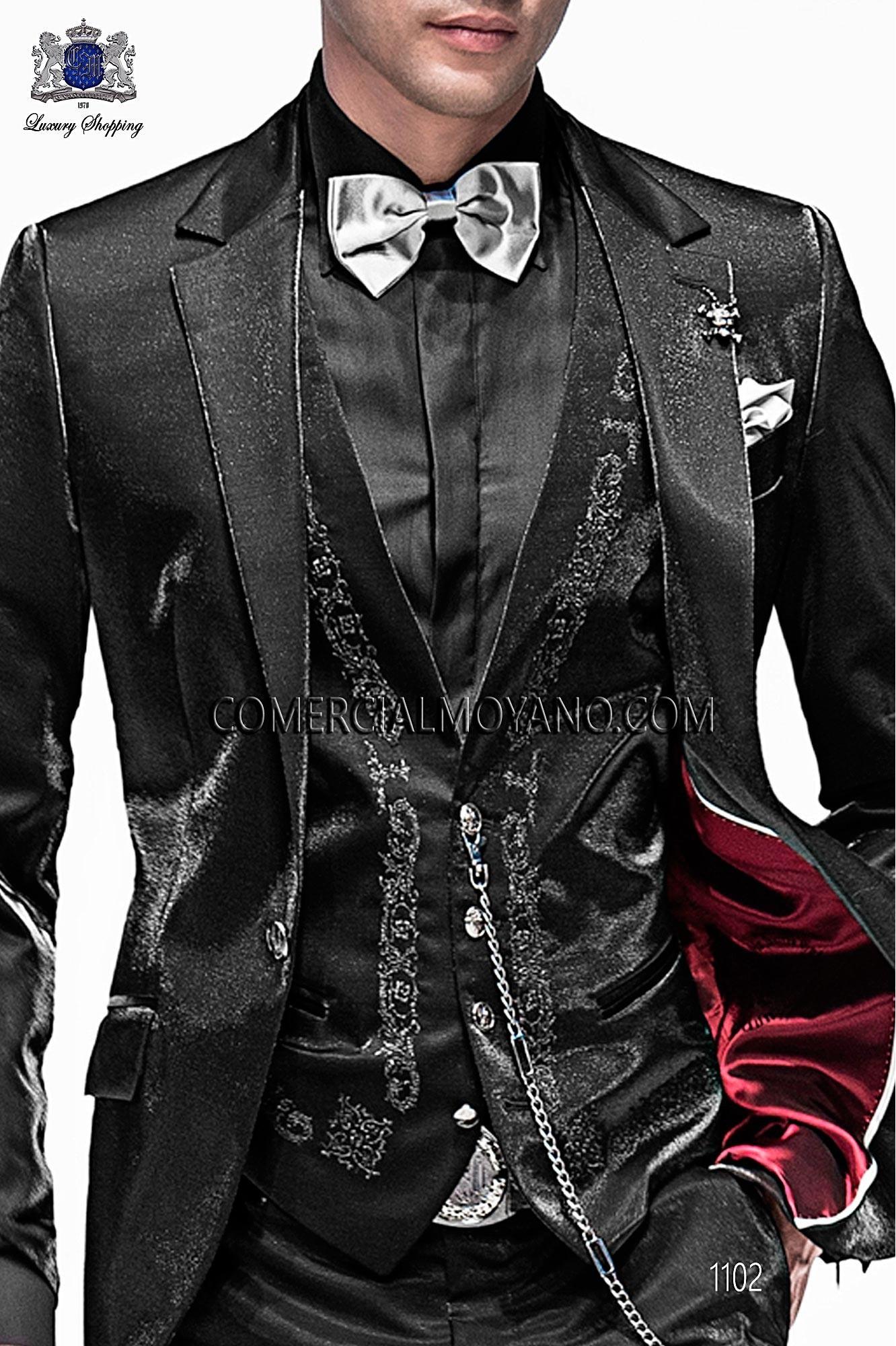 Italian emotion black and gold men wedding suit, model: 1102 Ottavio Nuccio Gala 2017 Emotion Collection