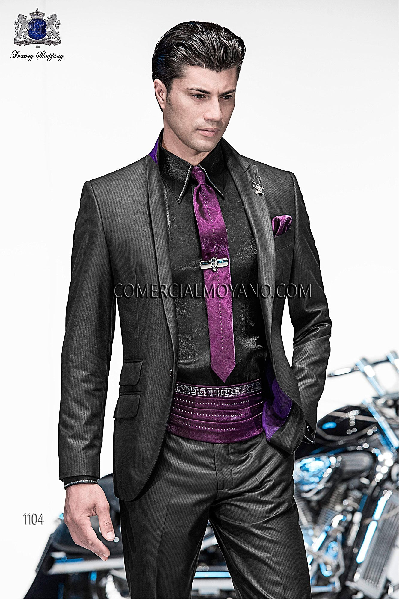 Emotion black/ gray men wedding suit model 1104 Ottavio Nuccio Gala