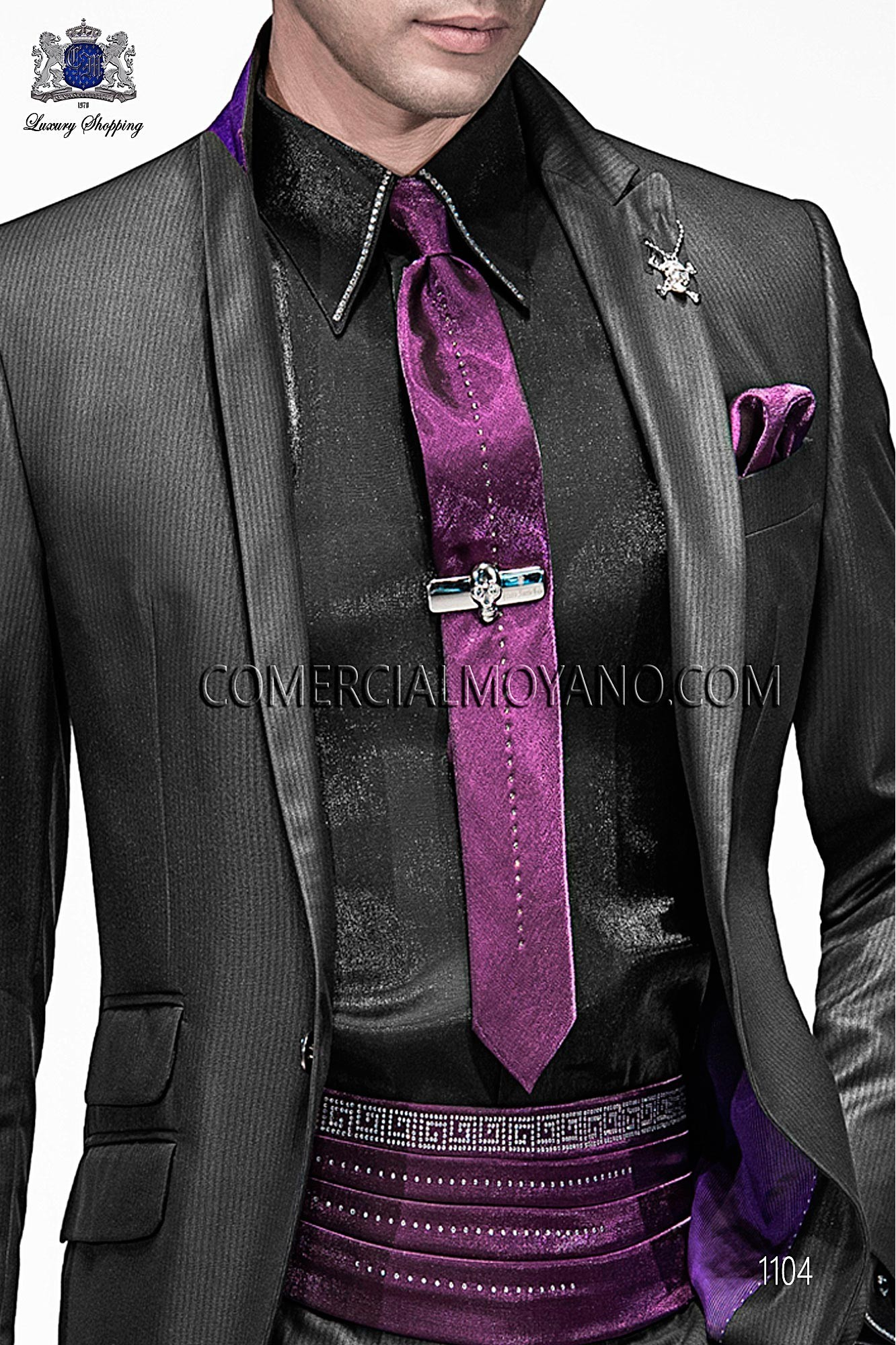 Italian emotion black/ gray men wedding suit, model: 1104 Ottavio Nuccio Gala 2017 Emotion Collection