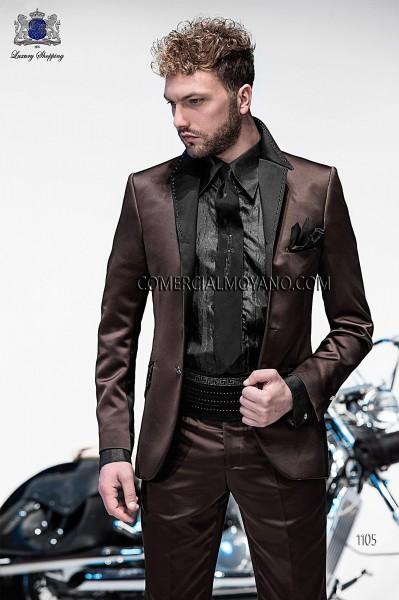 Traje de novio moderno marrón modelo 1105 colección Emotion Ottavio Nuccio Gala