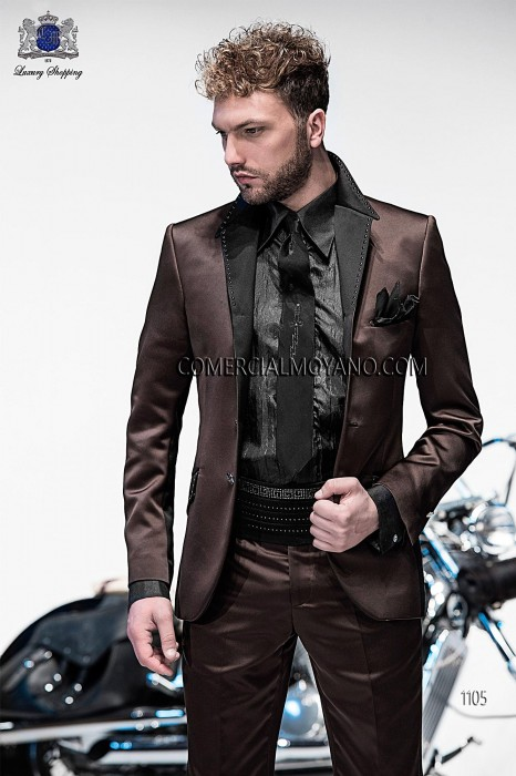 Italian brown fashion suit