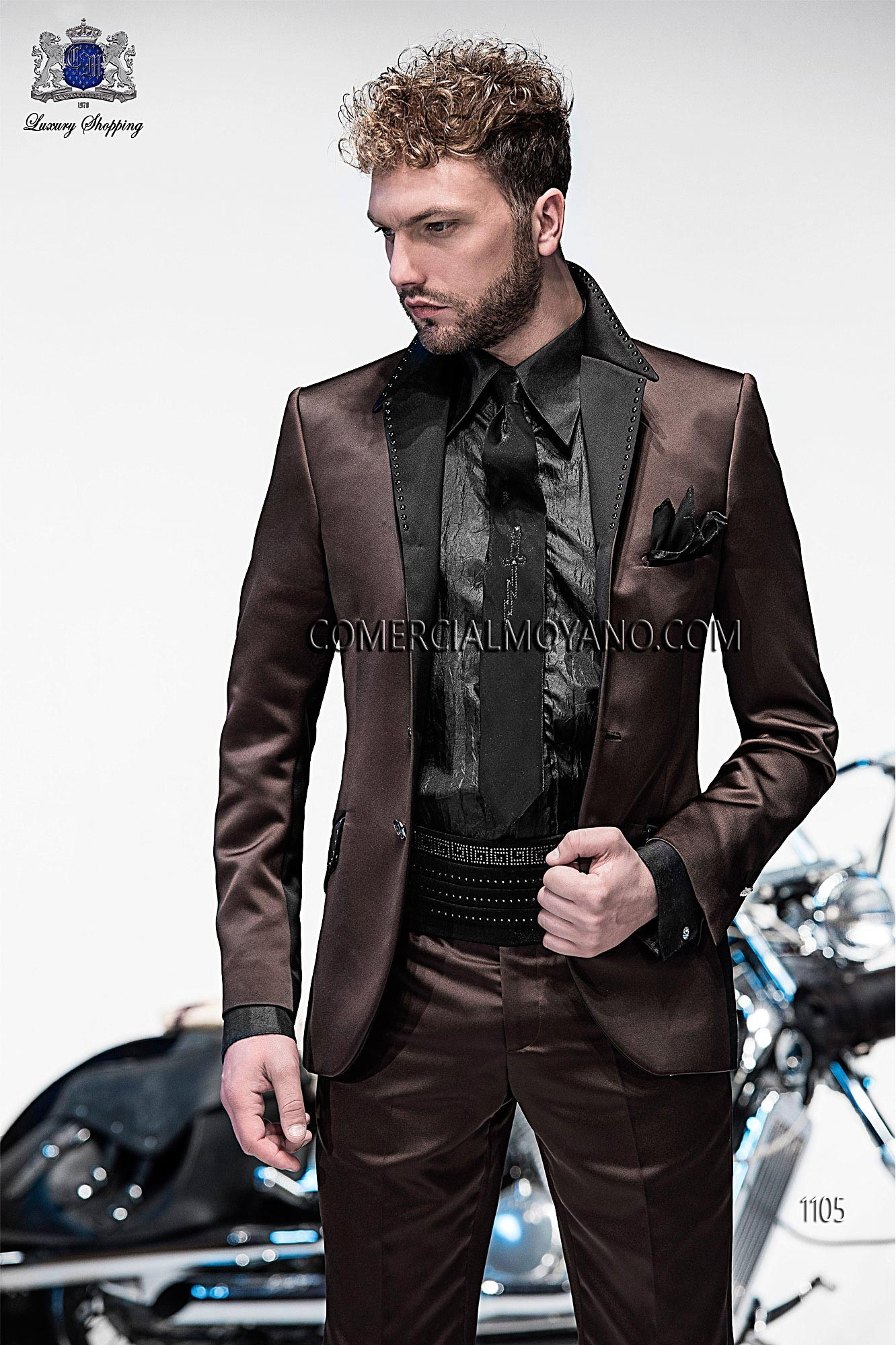 Emotion brown men wedding suit model 1105 Ottavio Nuccio Gala