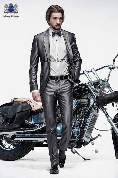Italian gray fashion suit