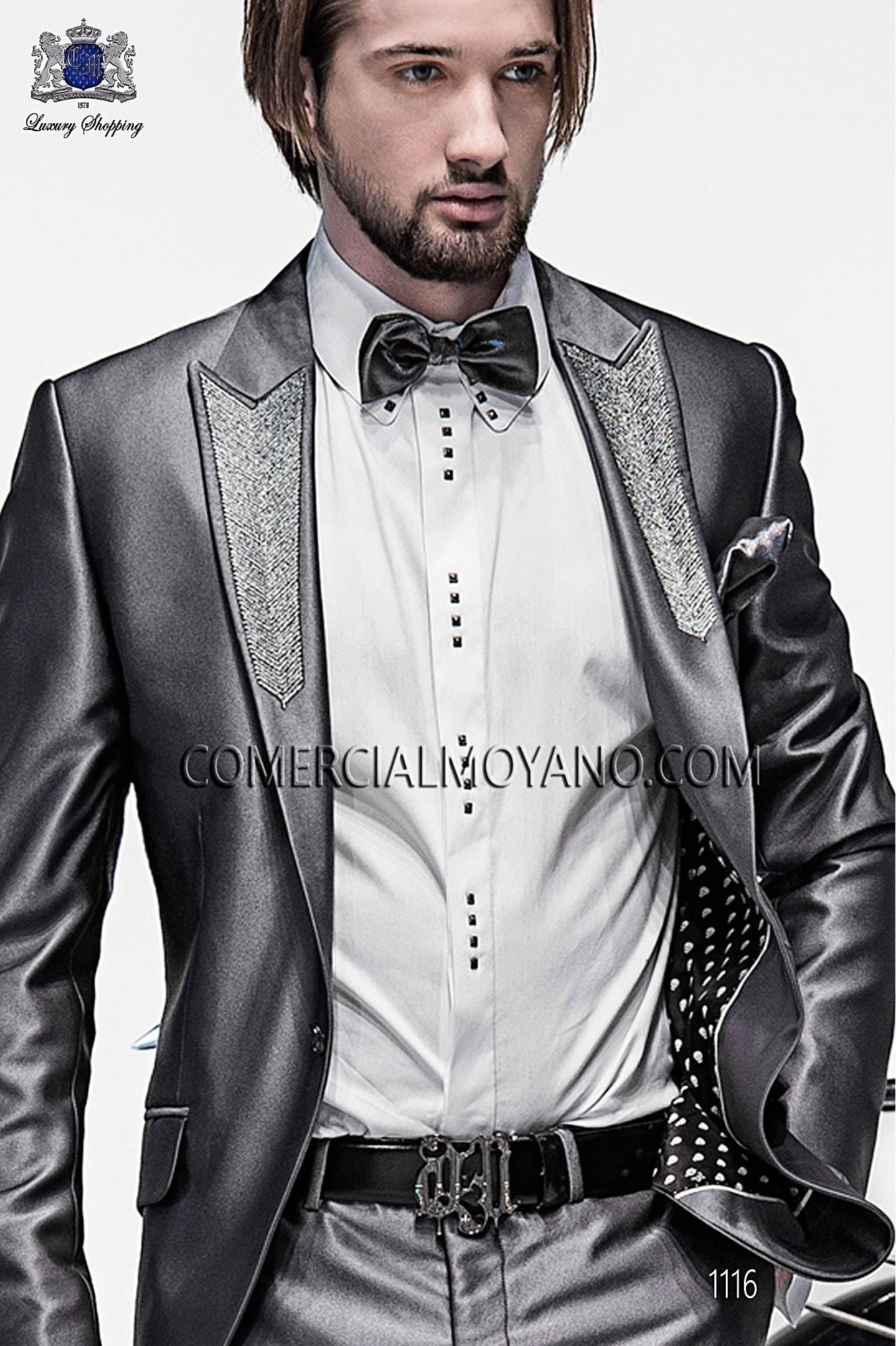 Italian emotion gray men wedding suit, model: 1116 Ottavio Nuccio Gala Emotion Collection