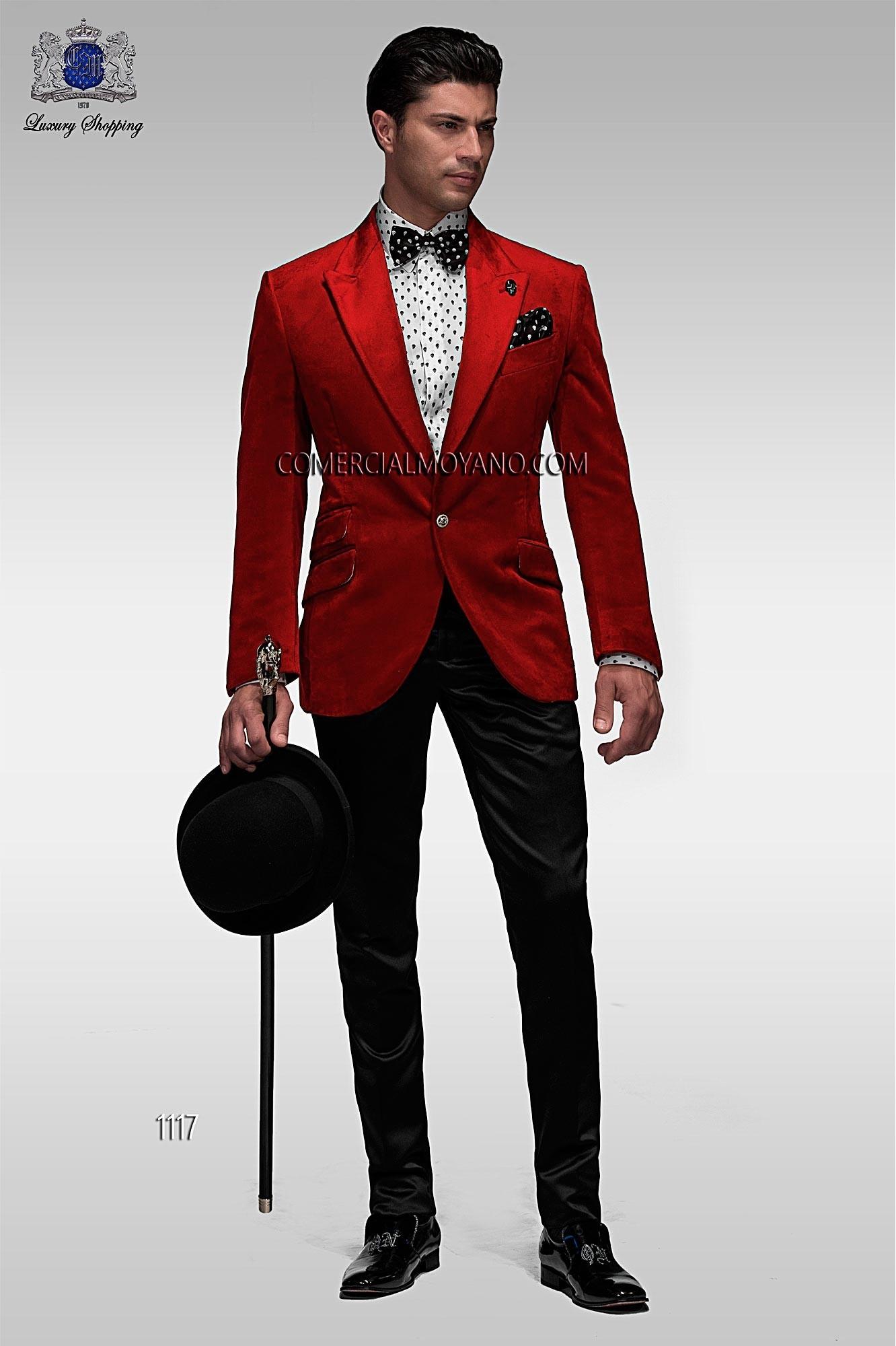 Emotion red men wedding suit model 1117 Ottavio Nuccio Gala