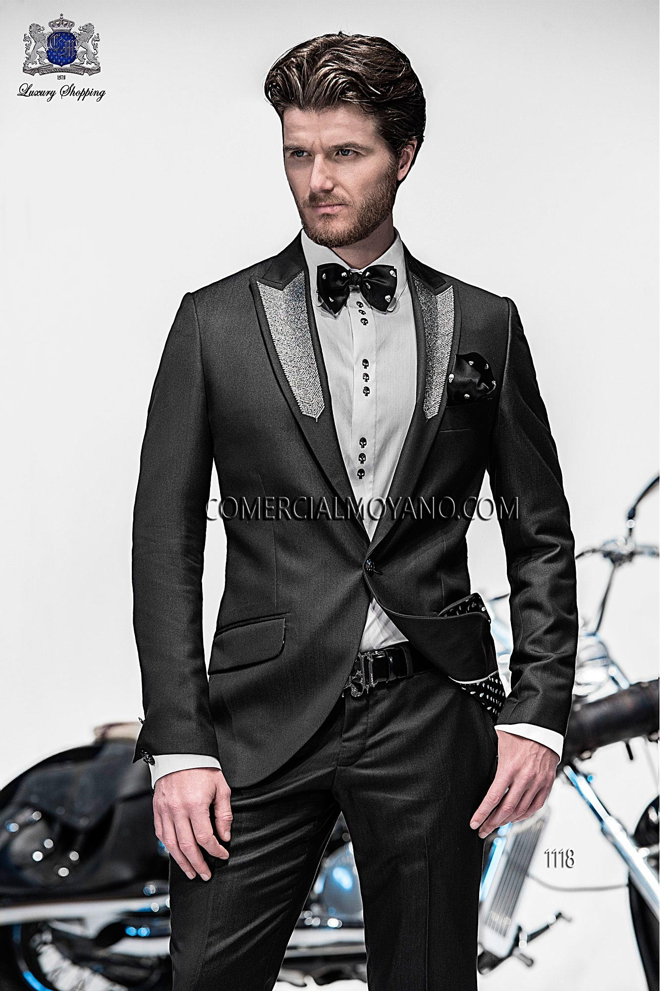 Emotion black men wedding suit model 1118 Ottavio Nuccio Gala