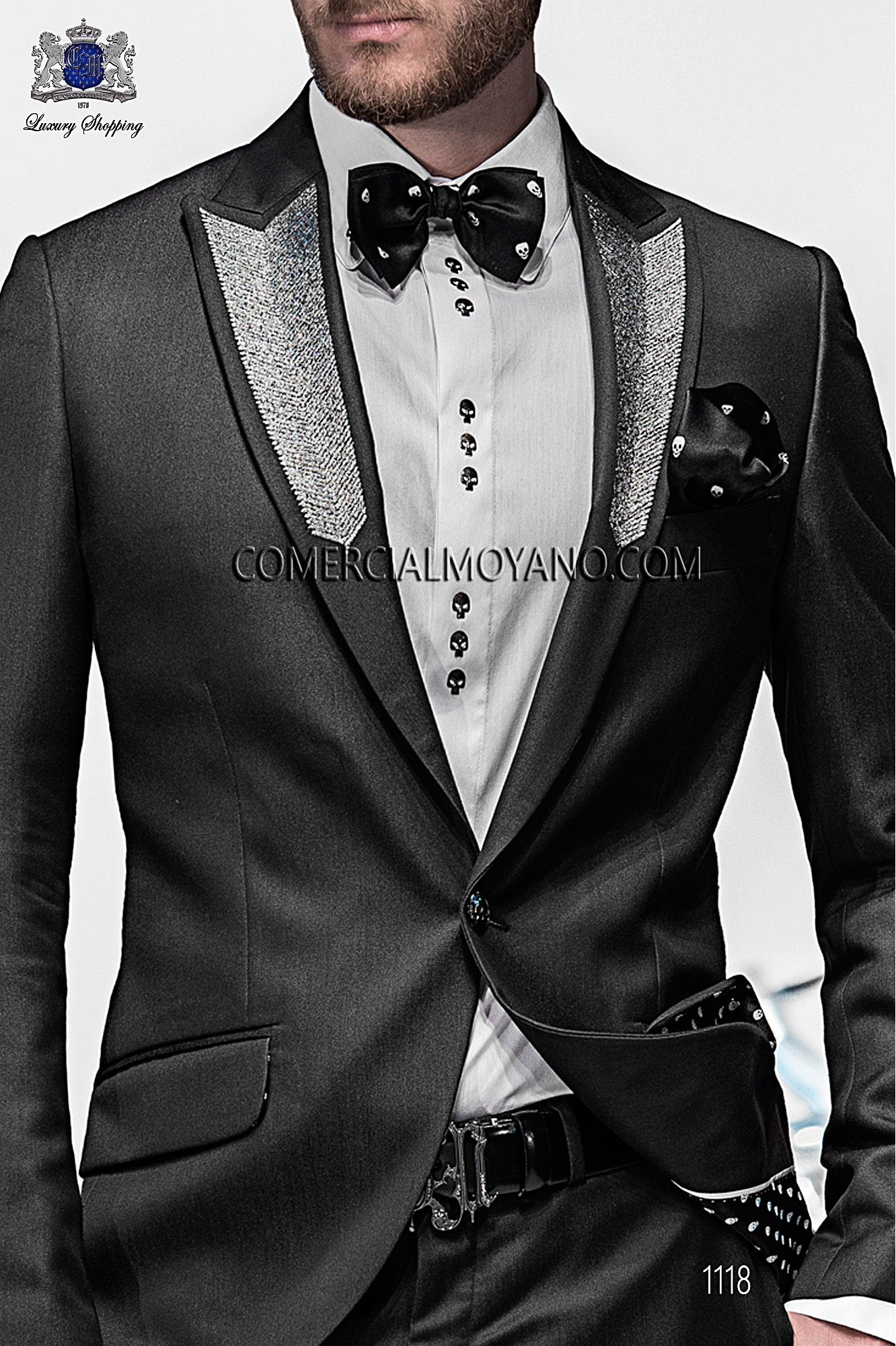 Italian emotion black men wedding suit, model: 1118 Ottavio Nuccio Gala Emotion Collection
