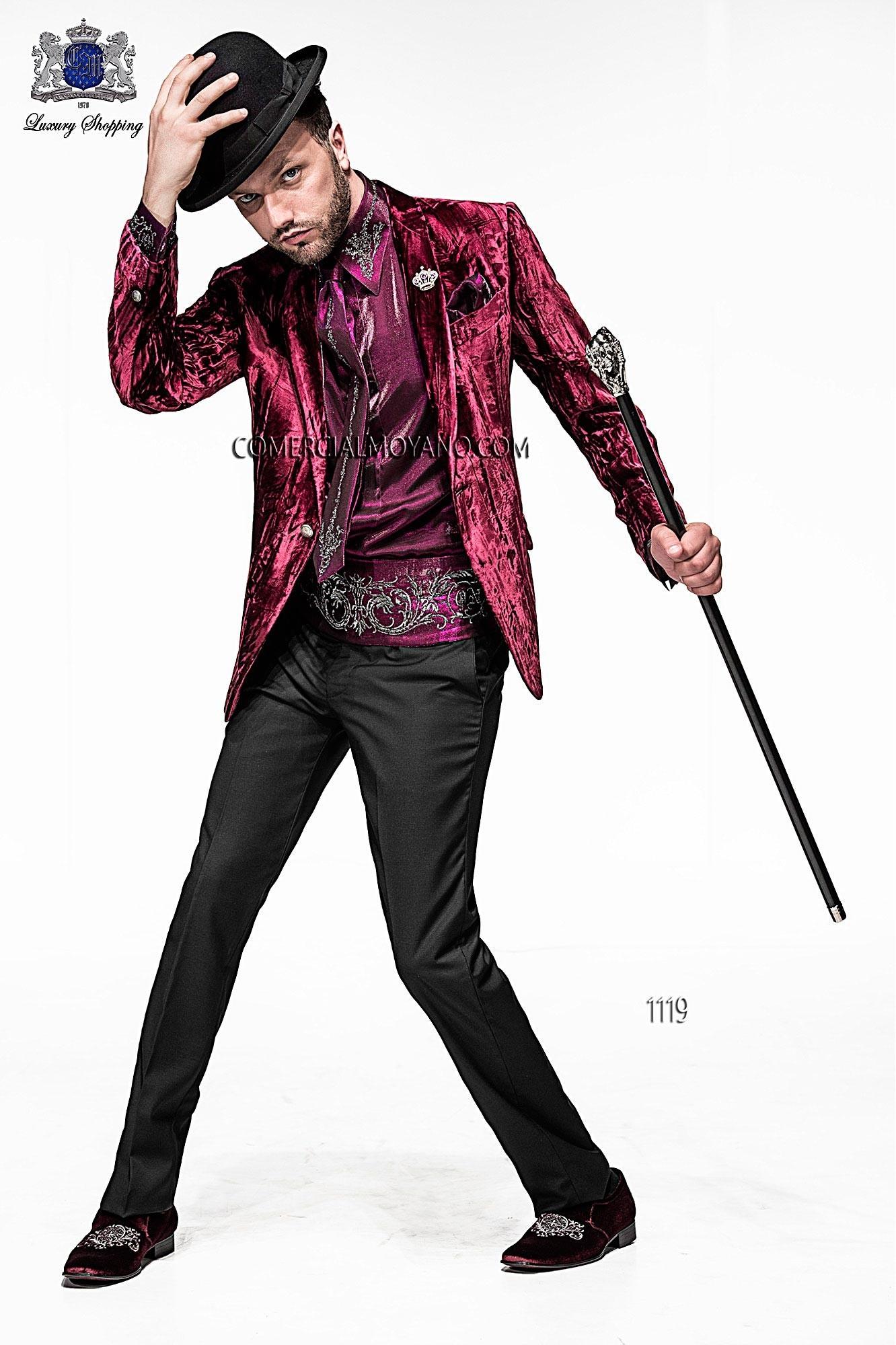 Traje de moda hombre malva modelo: 1119 Ottavio Nuccio Gala colección Emotion