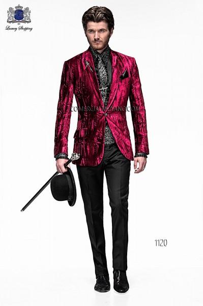 Italian emotion burgundy men wedding suit style 1120 Ottavio Nuccio Gala