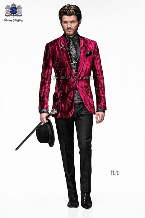 Italian bespoke red wedding suit style 1120 Ottavio Nuccio Gala