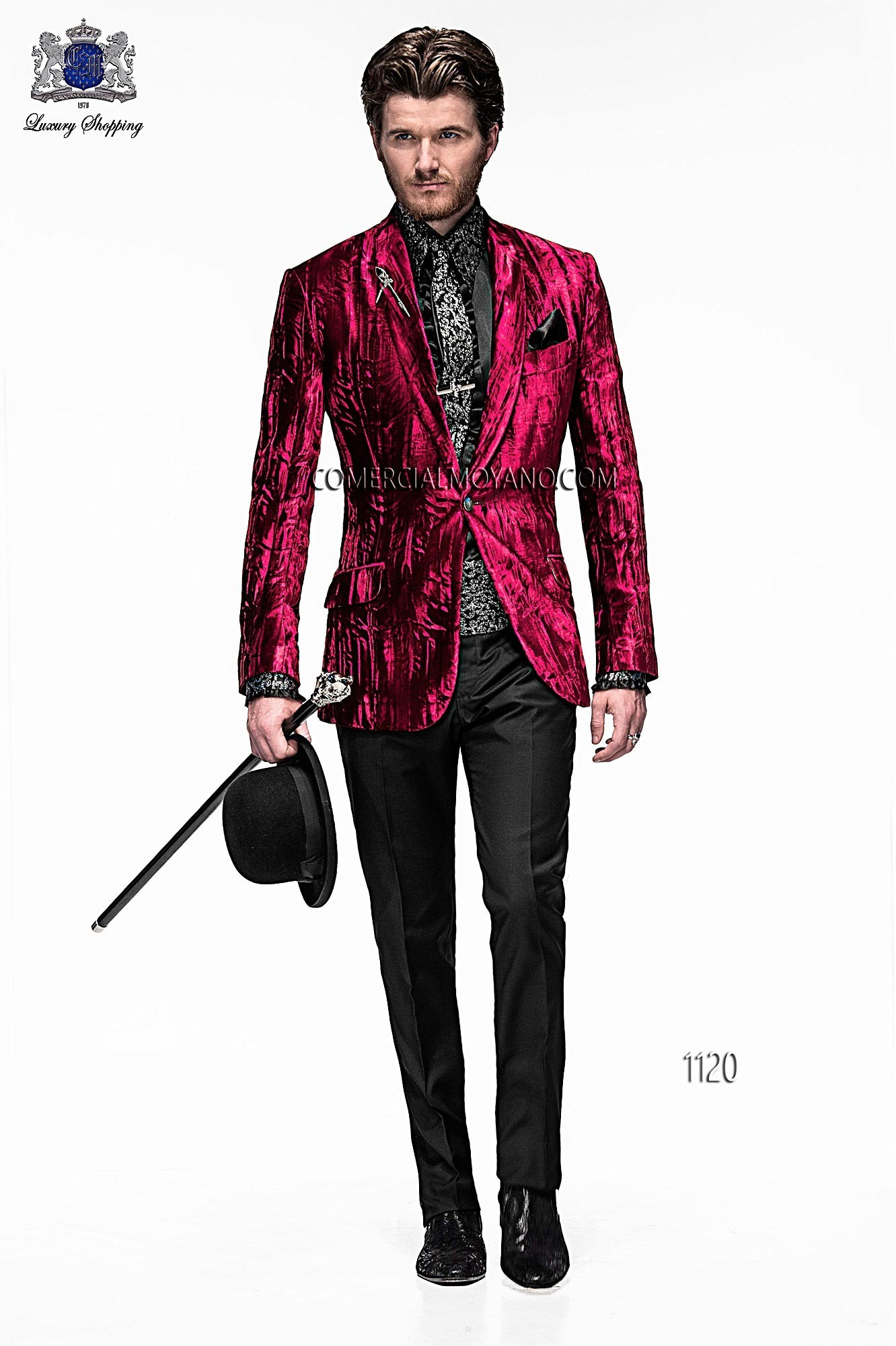 Emotion red men wedding suit model 1120 Ottavio Nuccio Gala