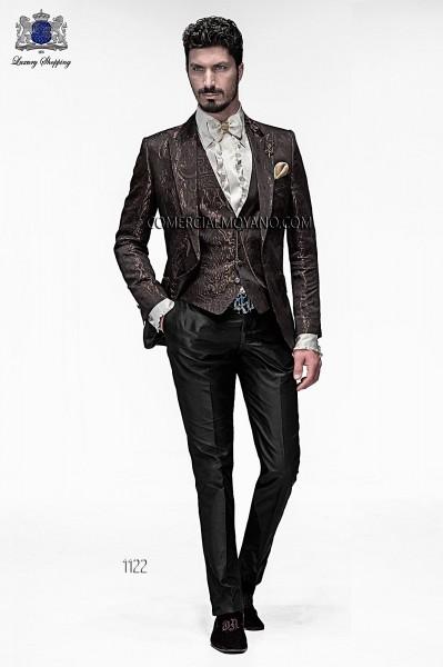 Italian emotion brown men wedding suit style 1122 Ottavio Nuccio Gala