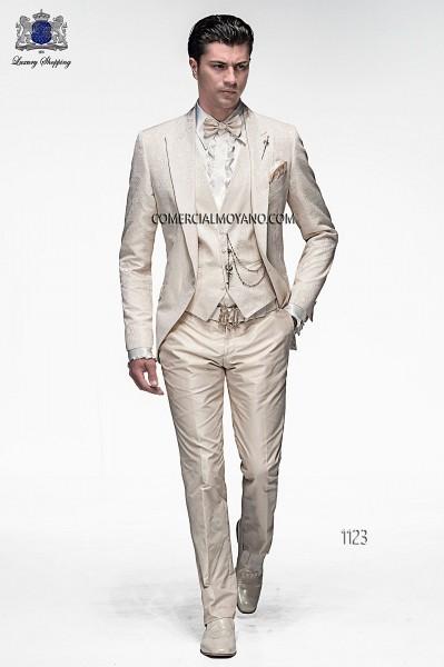 Traje de novio moderno crudo modelo 1123 colección Emotion 2017 Ottavio Nuccio Gala