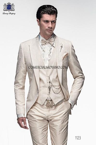 Chaqueta de moda italiano jacquard crudo