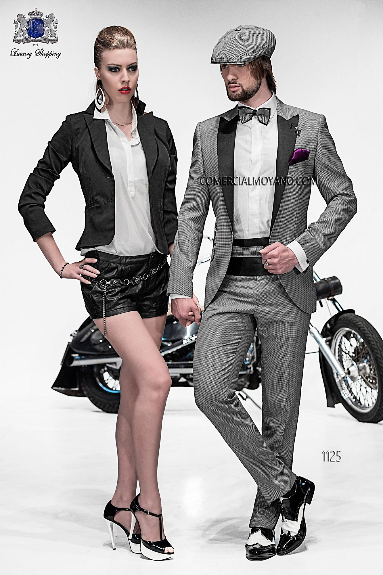 Emotion black/ white men wedding suit model 1125 Ottavio Nuccio Gala