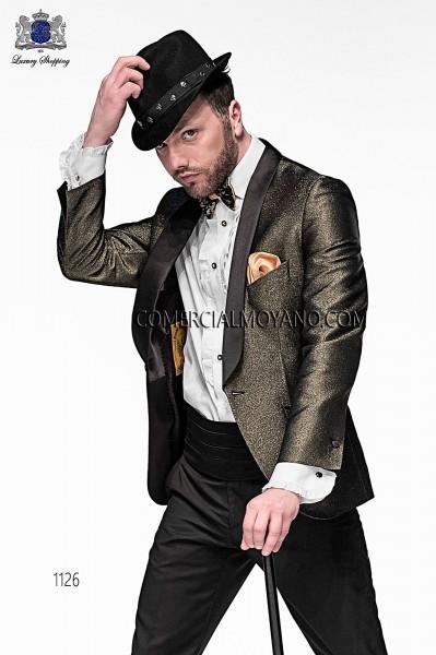Chaqueta de moda italiano negro/oro