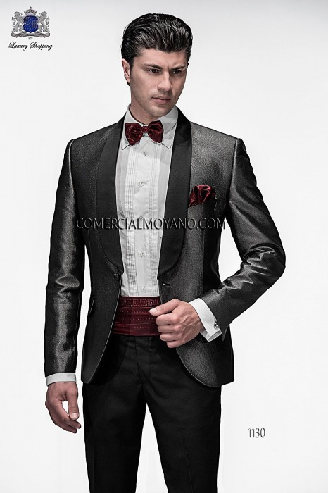 Italian black/silver fashion jacket