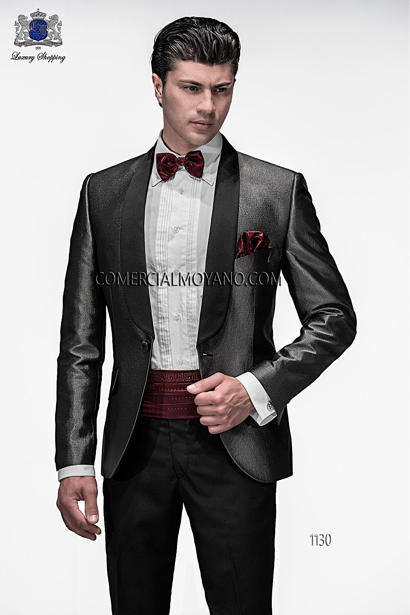 Emotion black/ silver men wedding suit model 1130 Ottavio Nuccio Gala