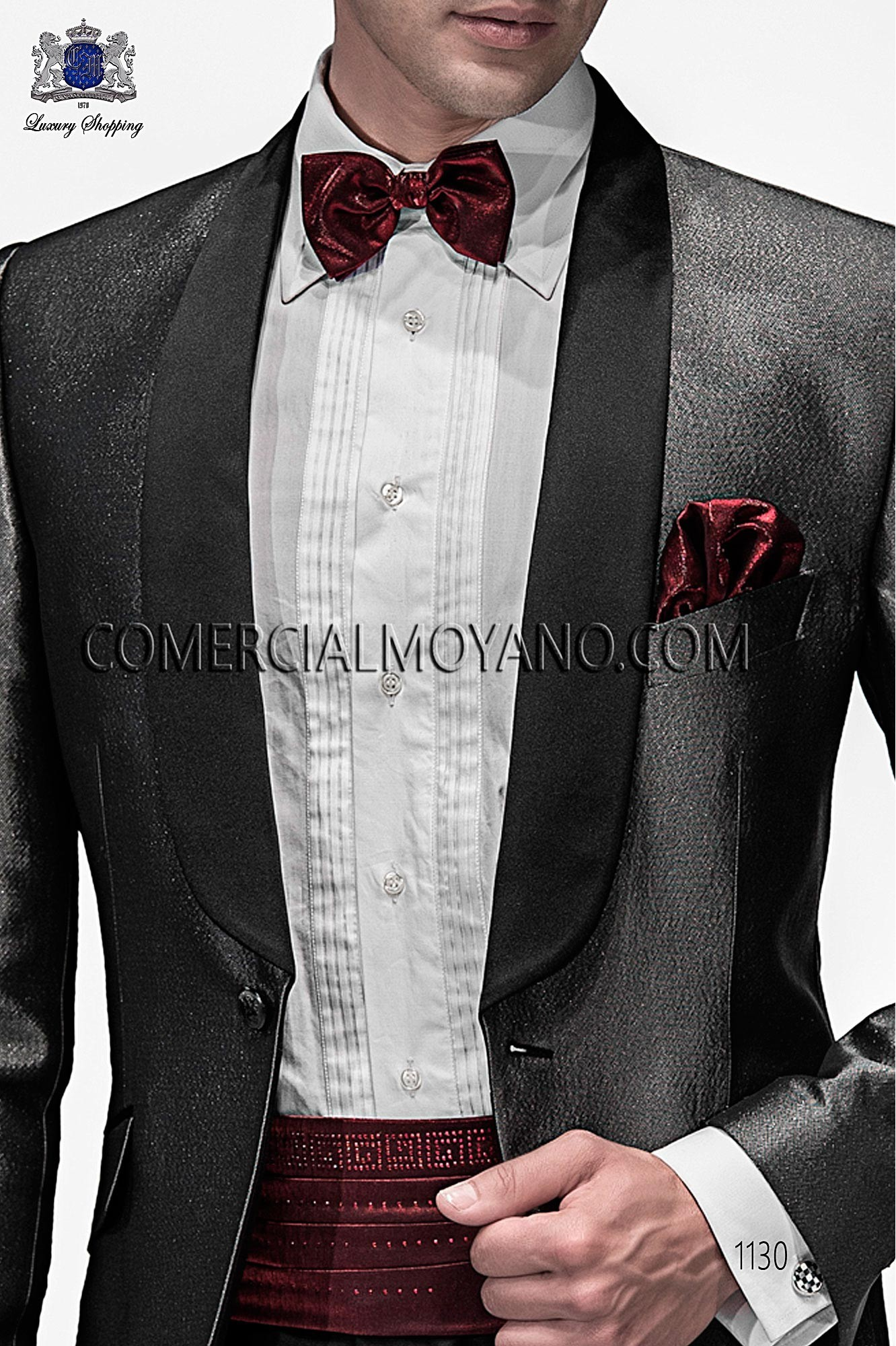 Italian emotion black/ silver men wedding suit, model: 1130 Ottavio Nuccio Gala Emotion Collection