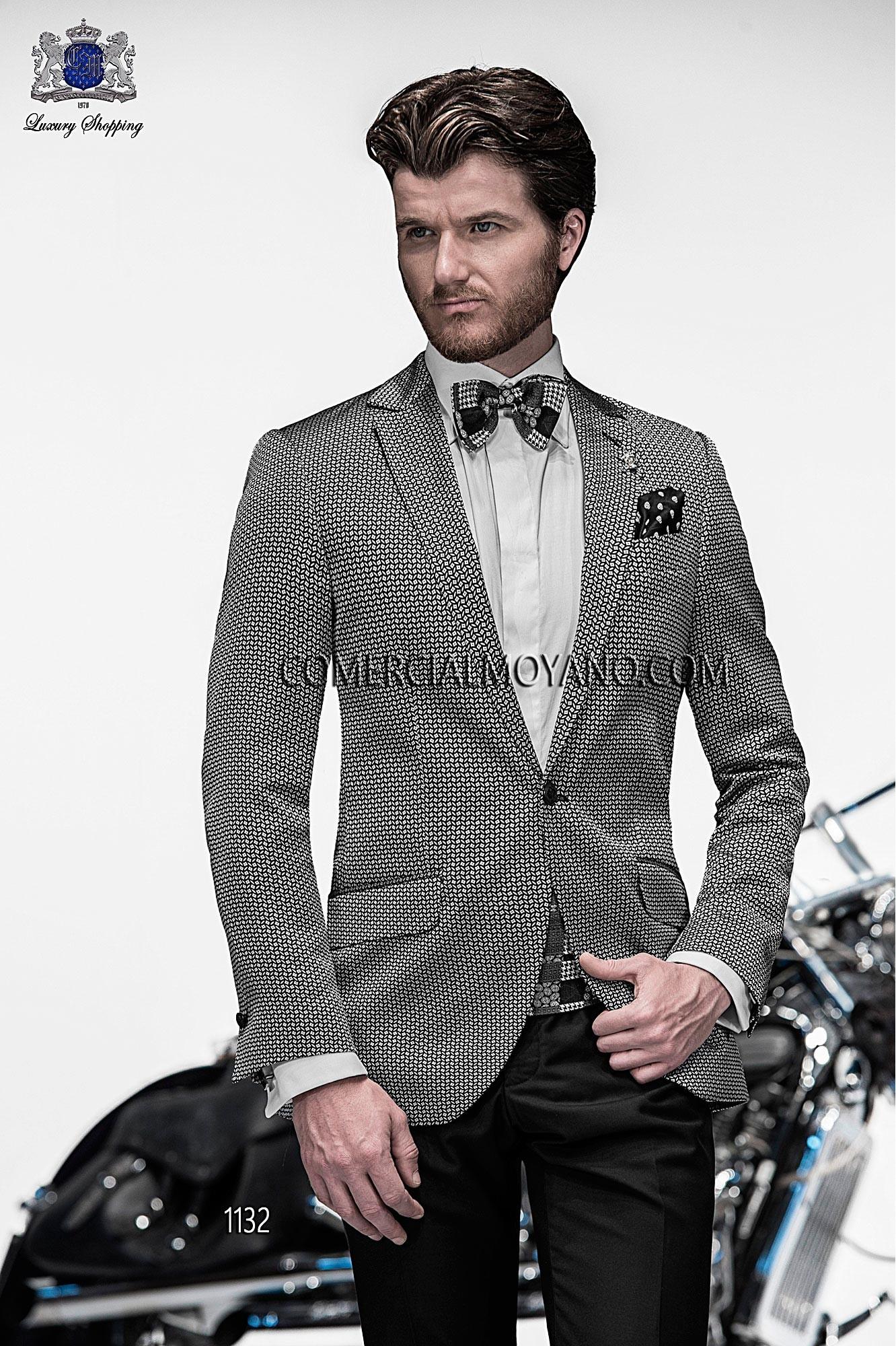 Emotion black/ silver men wedding suit model 1132 Ottavio Nuccio Gala