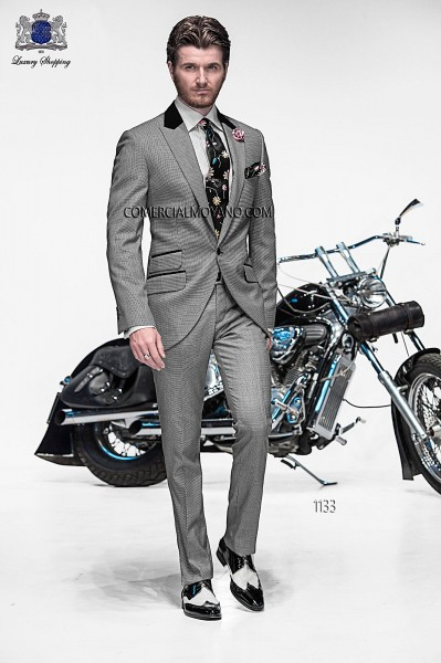 Italian emotion gray men wedding suit style 1133 Ottavio Nuccio Gala