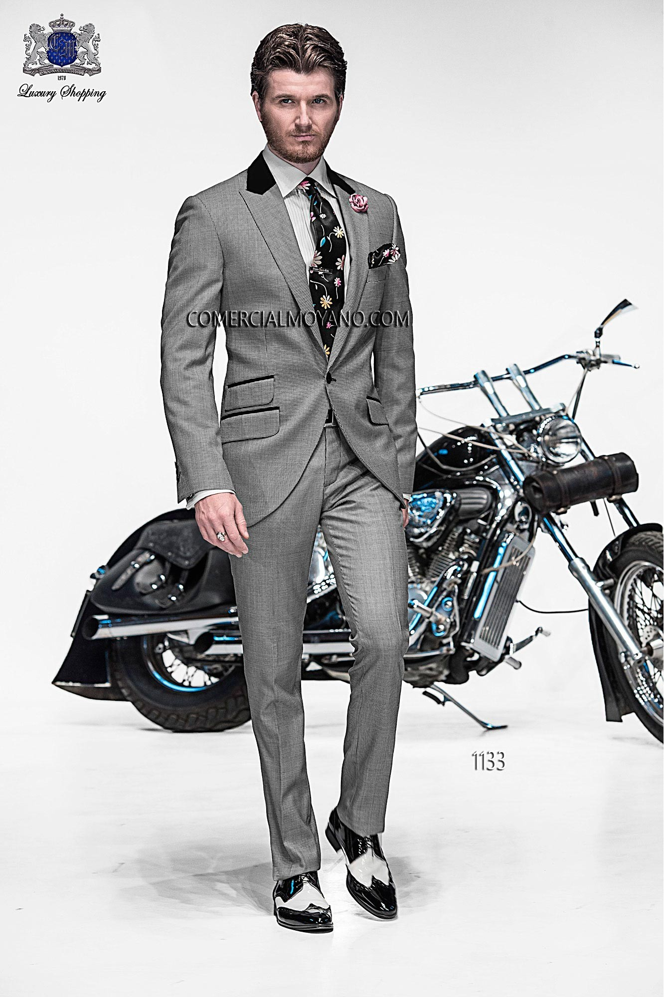 Emotion prince of wales men wedding suit model 1133 Ottavio Nuccio Gala