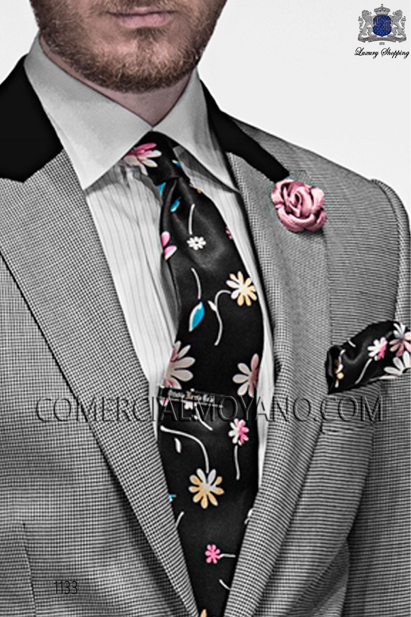 Italian emotion prince of wales men wedding suit, model: 1133 Ottavio Nuccio Gala Emotion Collection