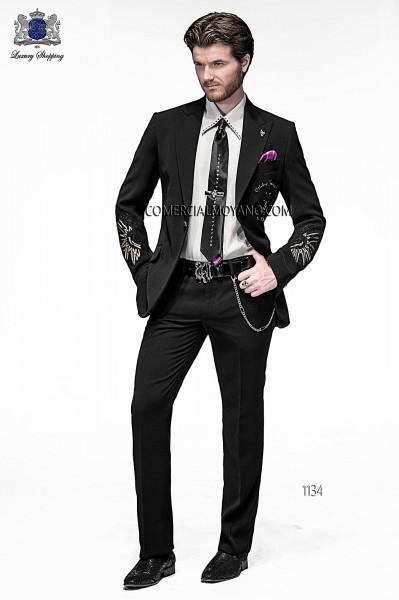 Italian emotion black men wedding suit style 1134 Ottavio Nuccio Gala