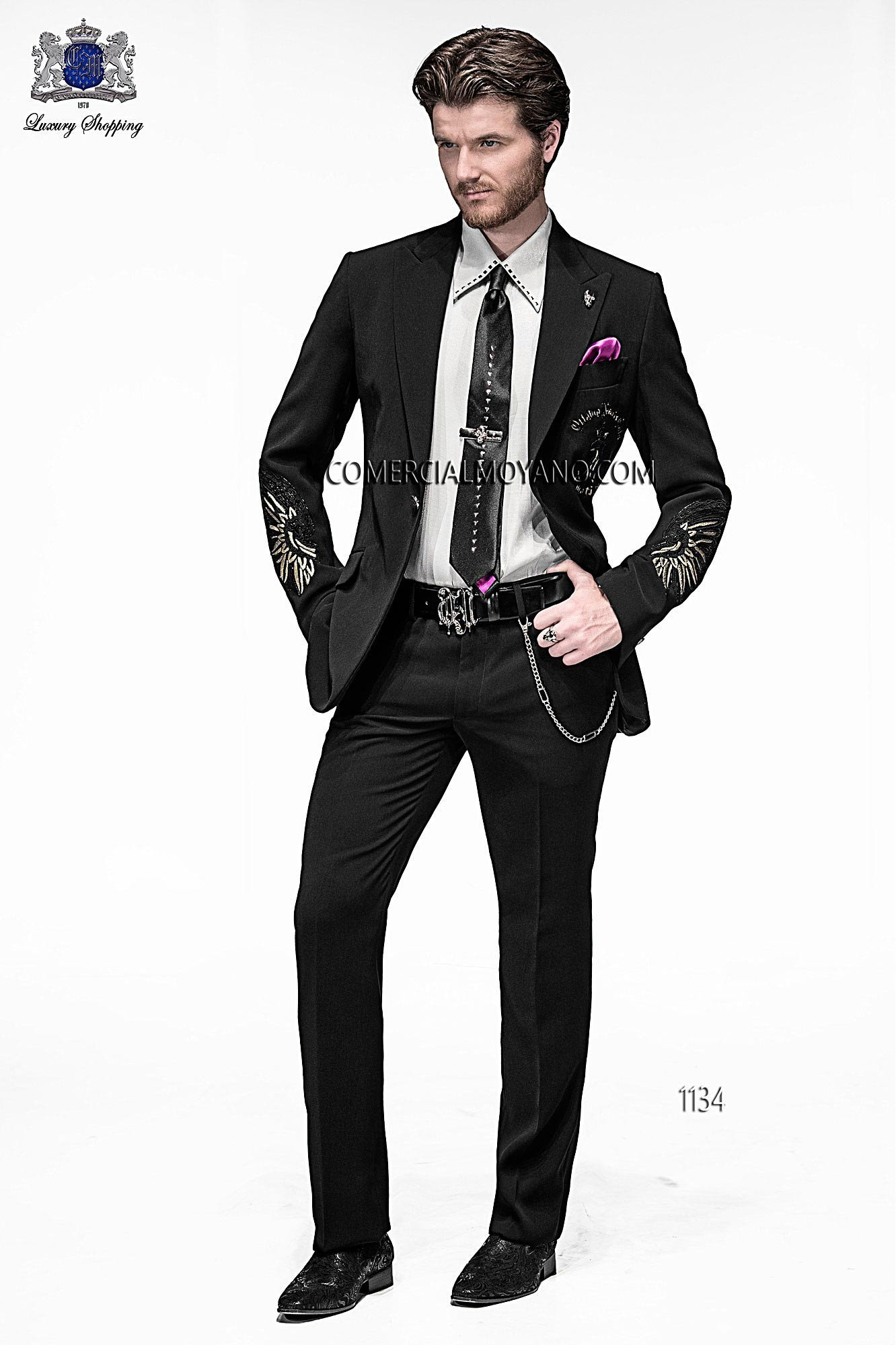 Emotion black men wedding suit model 1134 Ottavio Nuccio Gala