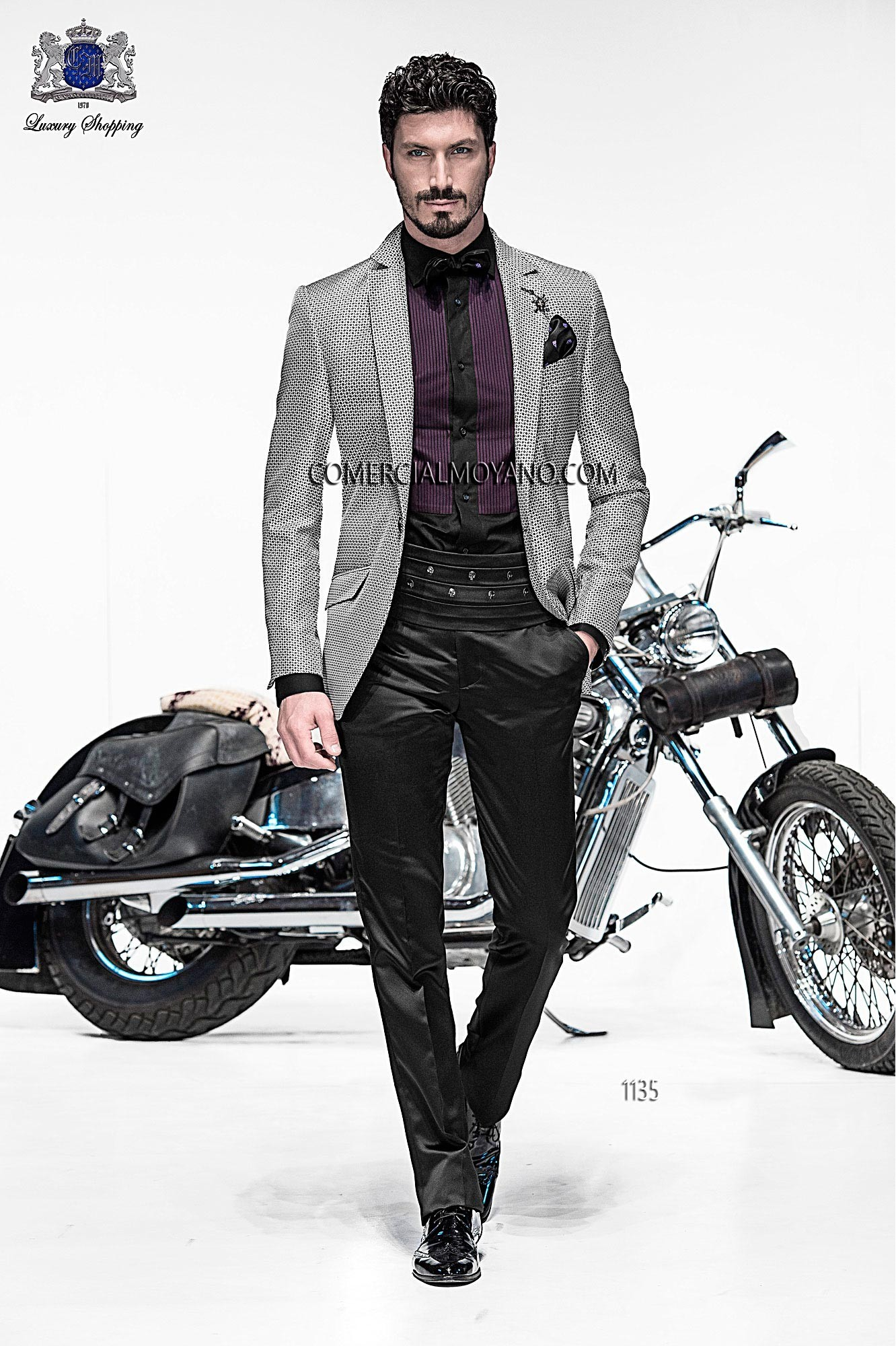 Emotion gray men wedding suit model 1135 Ottavio Nuccio Gala