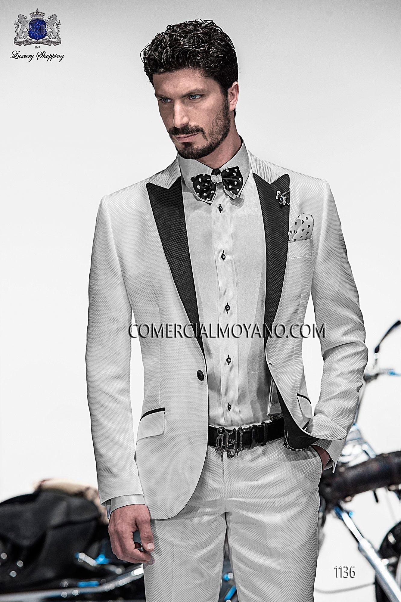 Traje de moda hombre blanco modelo: 1136 Ottavio Nuccio Gala colección Emotion