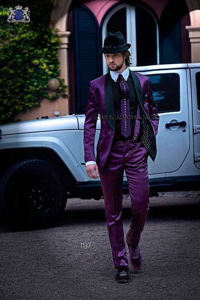 Italian emotion burgundy men wedding suit style 1137 Ottavio Nuccio Gala