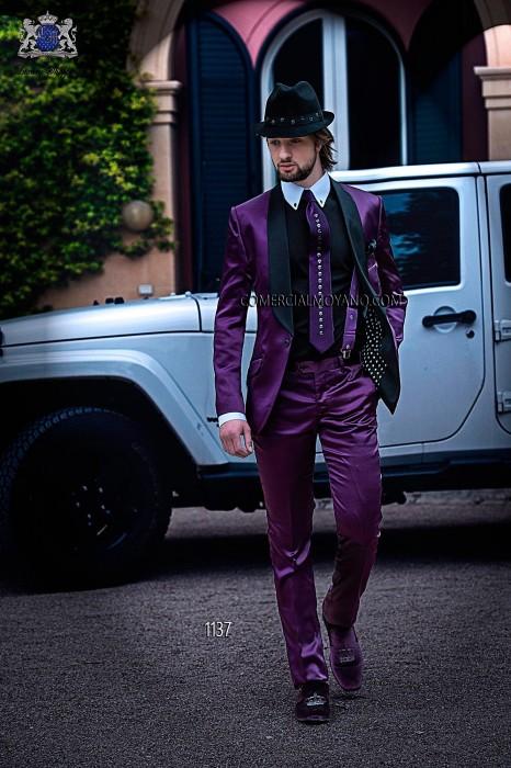 Italian purple fashion suit
