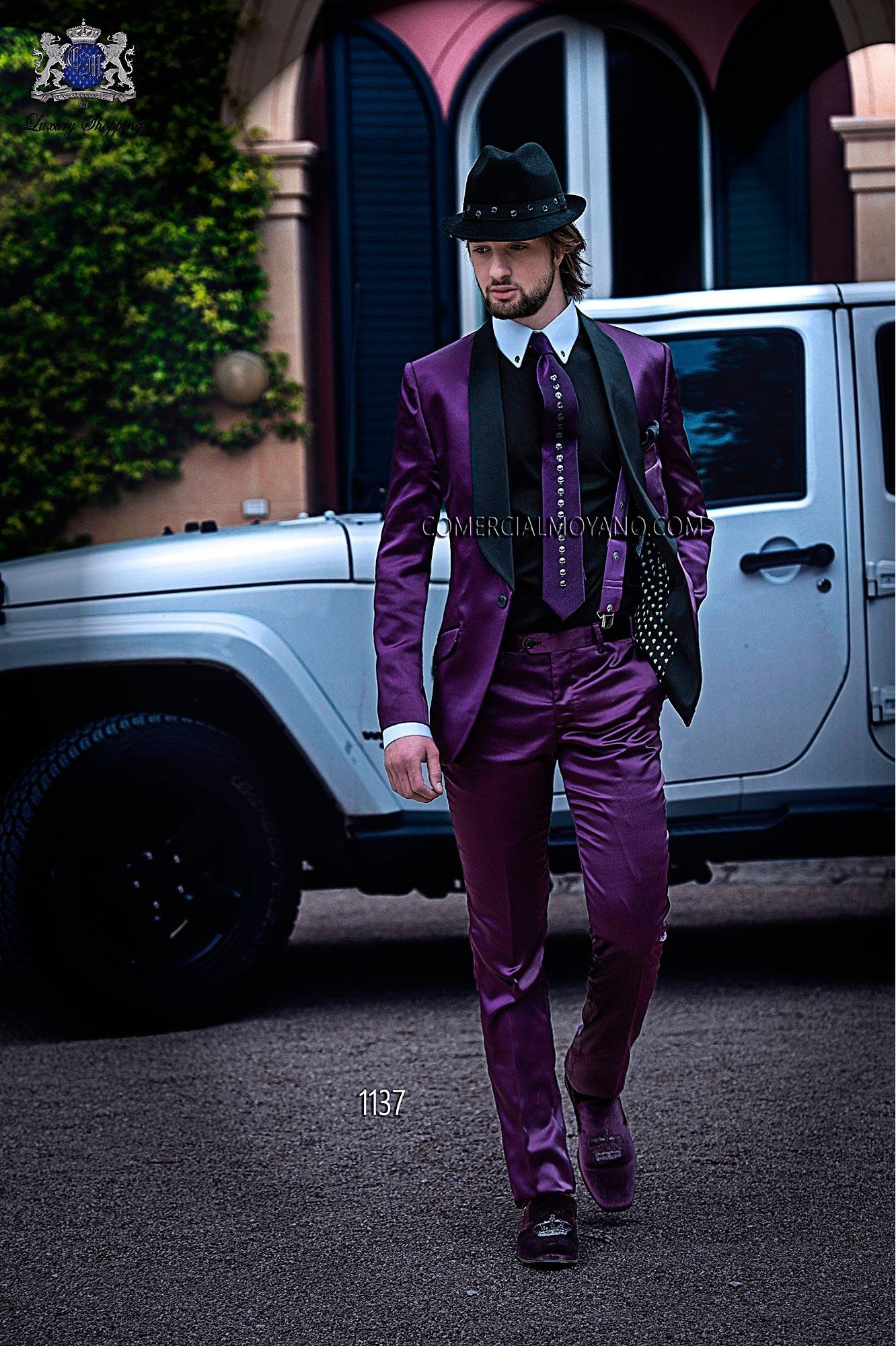 Traje de moda hombre malva modelo: 1137 Ottavio Nuccio Gala colección Emotion