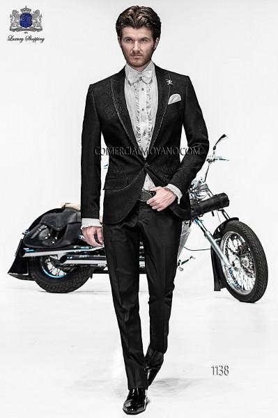 Italian emotion black men wedding suit style 1138 Ottavio Nuccio Gala