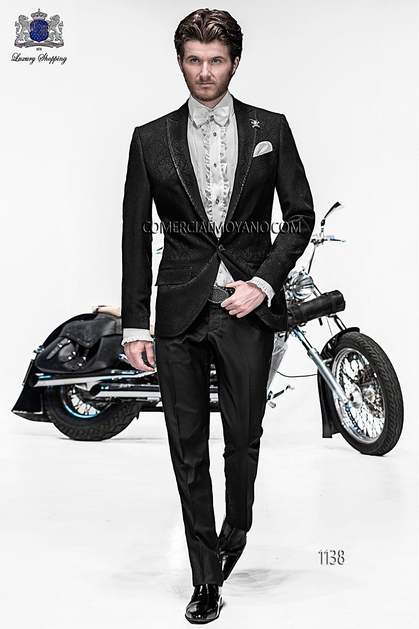 Traje de moda hombre negro modelo: 1138 Ottavio Nuccio Gala colección Emotion 2017
