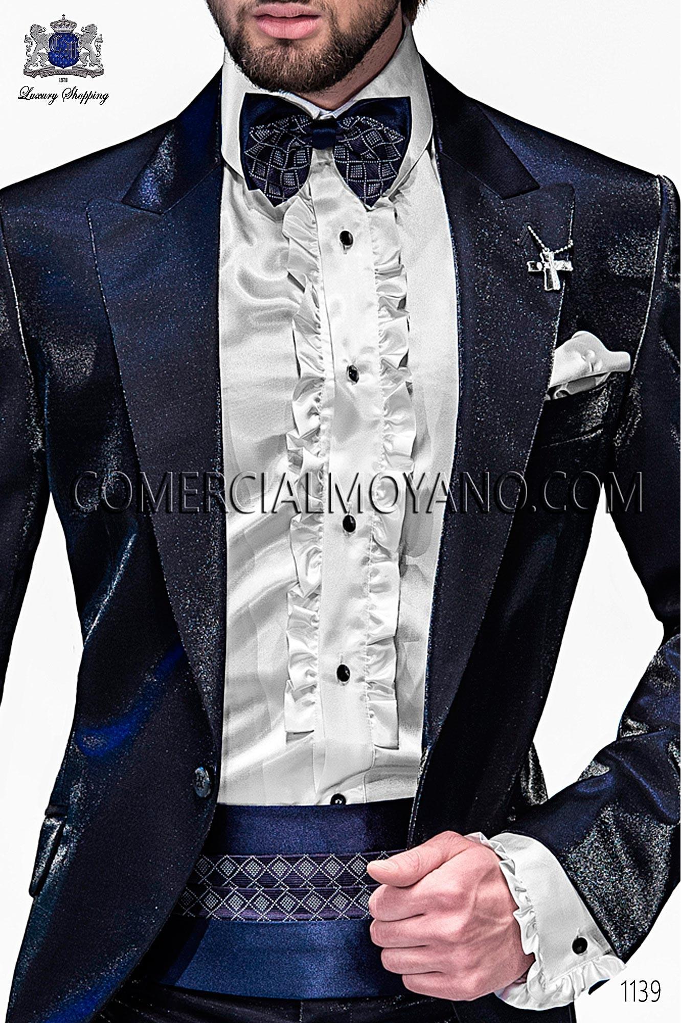Italian emotion blue men wedding suit, model: 1139 Ottavio Nuccio Gala Emotion Collection