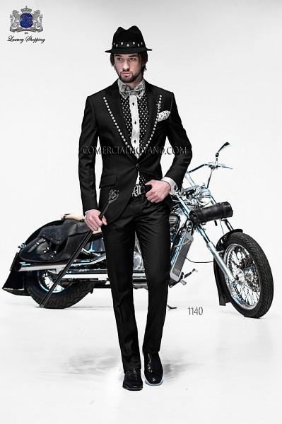 Italian emotion black men wedding suit style 1140 Ottavio Nuccio Gala