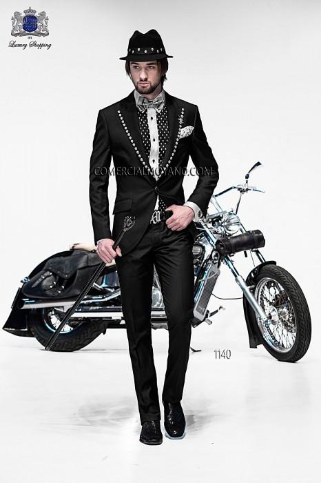 Traje de moda italiano negro 1140 Ottavio Nuccio Gala