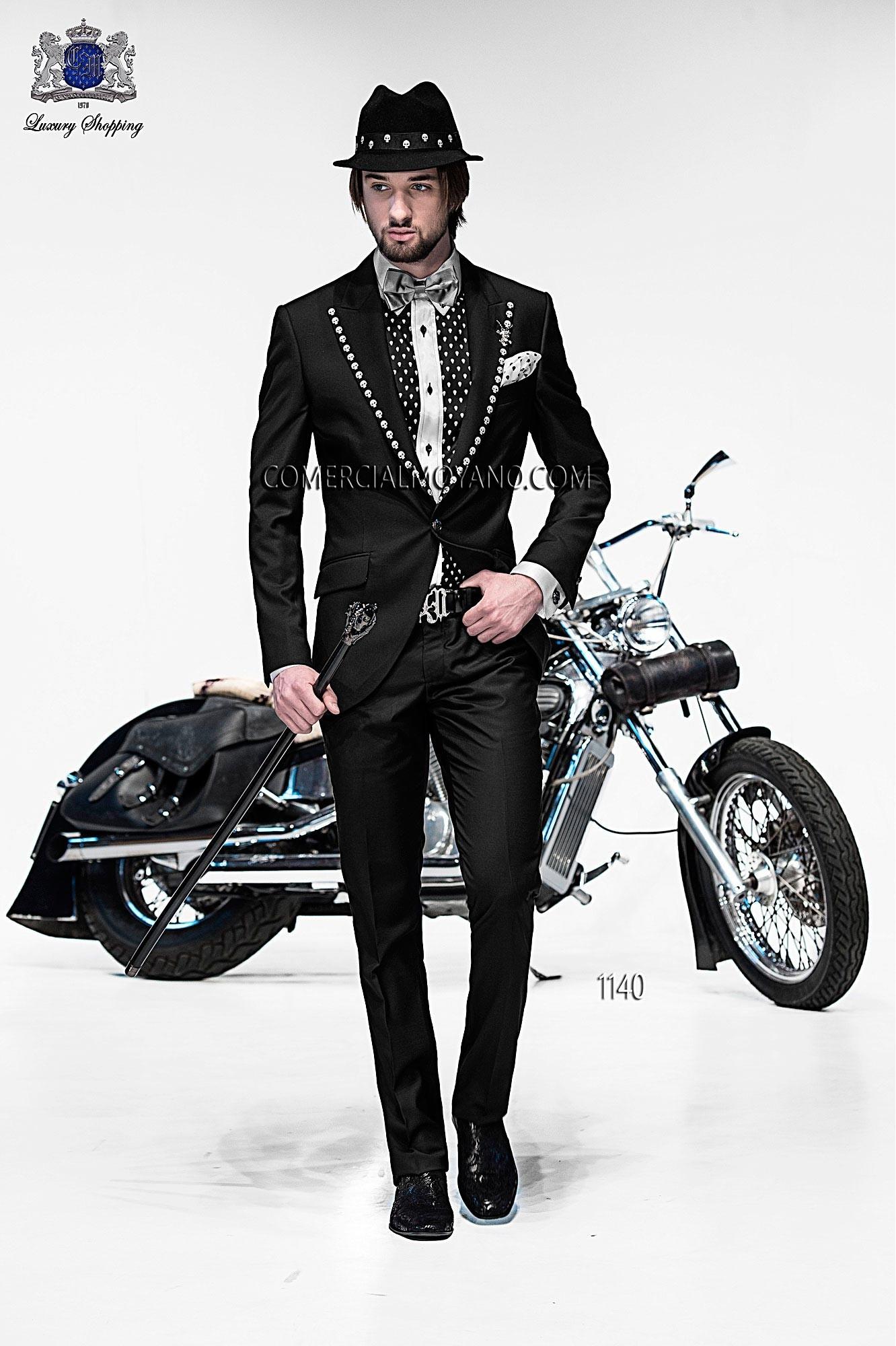 Traje de moda hombre negro modelo: 1140 Ottavio Nuccio Gala colección Emotion