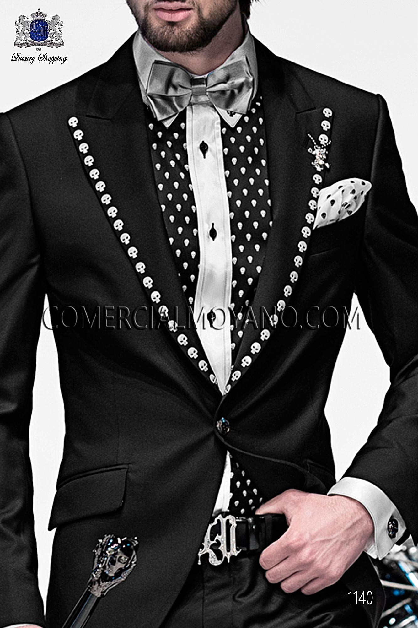 Italian emotion black men wedding suit, model: 1140 Ottavio Nuccio Gala Emotion Collection