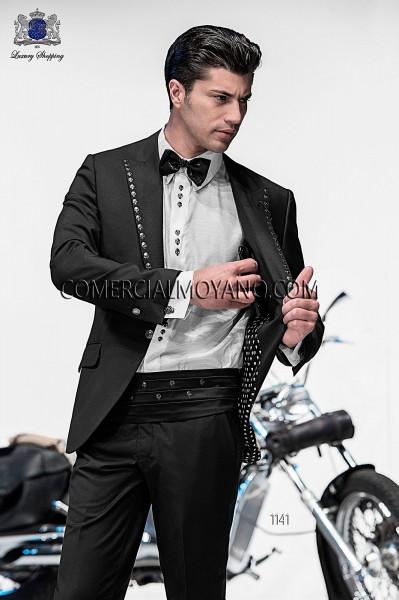 Traje de moda italiano negro 1141 Ottavio Nuccio Gala