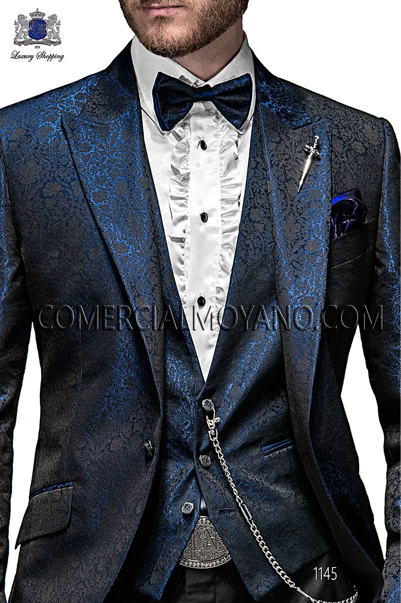 Italian emotion blue/black men wedding suit, model: 1145 Ottavio Nuccio Gala Emotion Collection