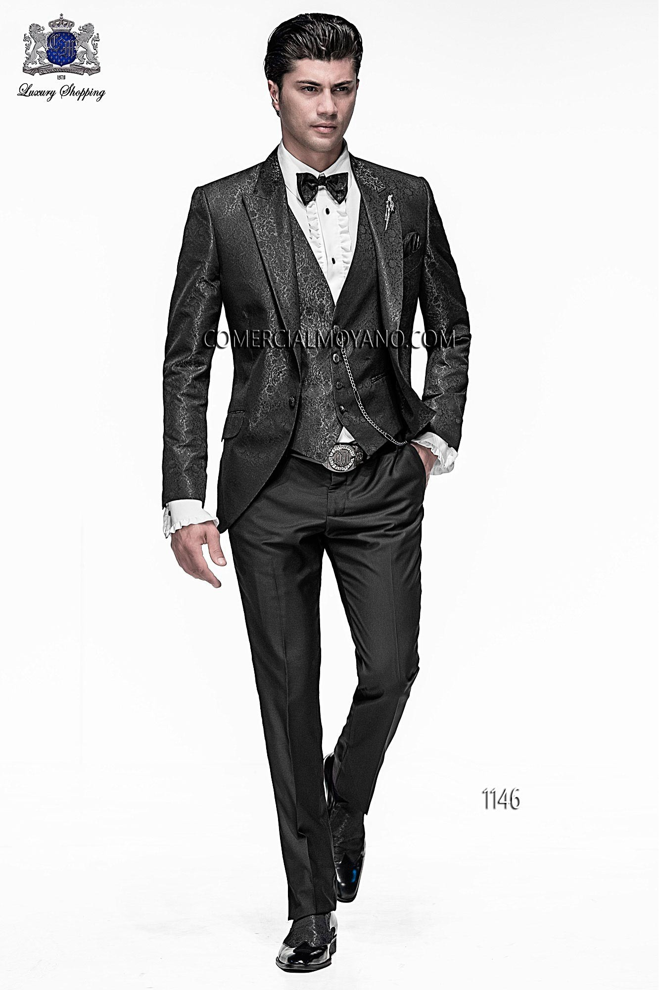 Emotion black and gray men wedding suit model 1146 Ottavio Nuccio Gala