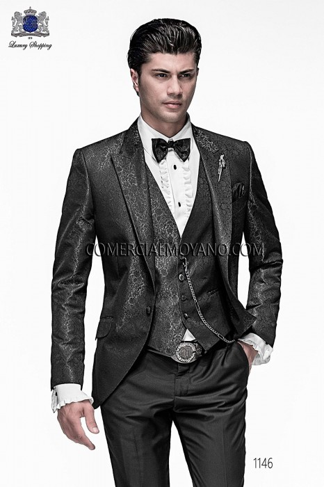 Italian gray jacquard fashion jacket
