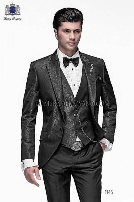 Italian gray jacquard fashion jacket
