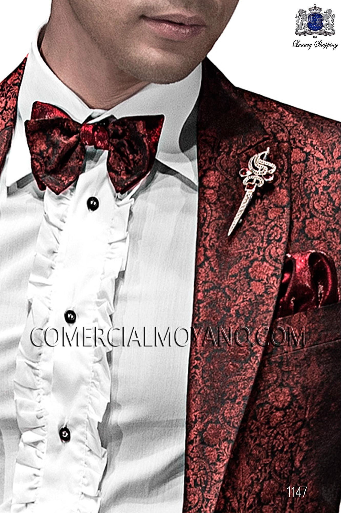 Italian emotion black/red men wedding suit, model: 1147 Ottavio Nuccio Gala Emotion Collection