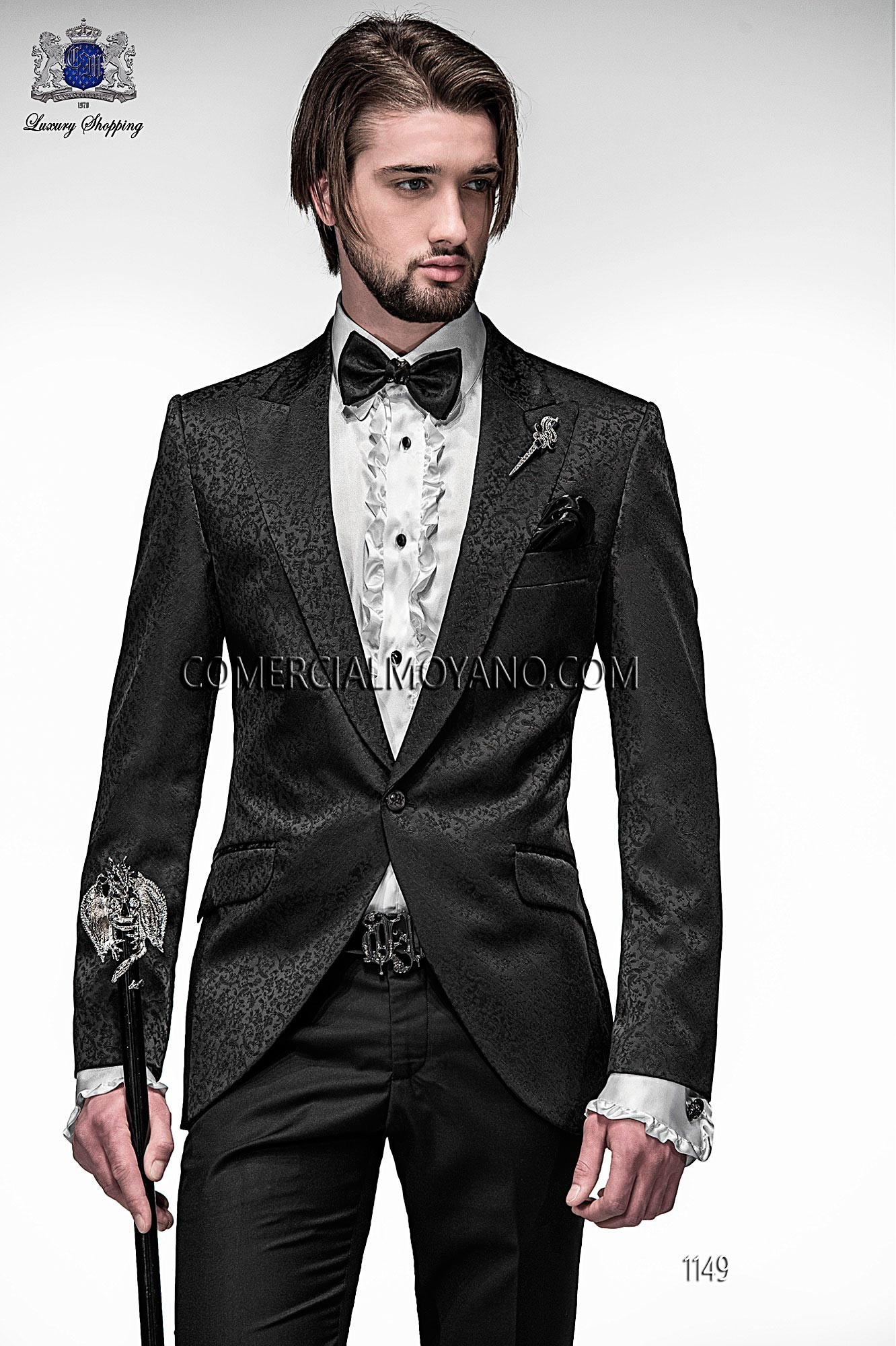 Emotion black men wedding suit model 1149 Ottavio Nuccio Gala