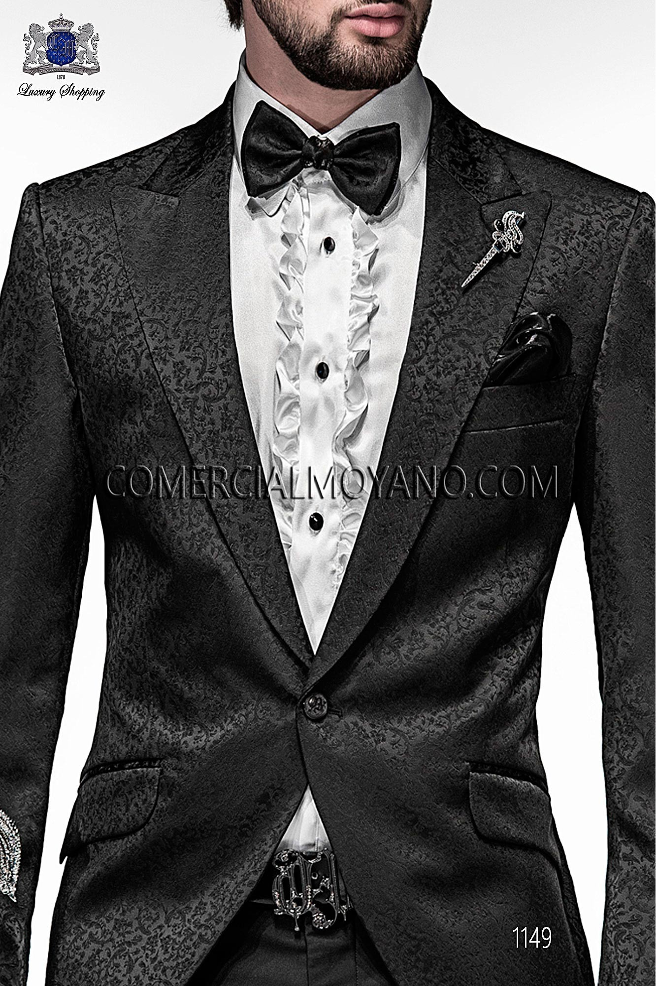 Italian emotion black men wedding suit, model: 1149 Ottavio Nuccio Gala Emotion Collection